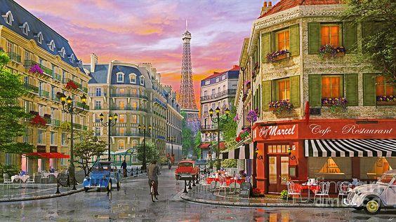 Rue Paris Digital Art
