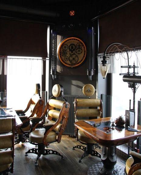 Steampunk Restaurant And Architecture Design On Pinterest: steampunk interior