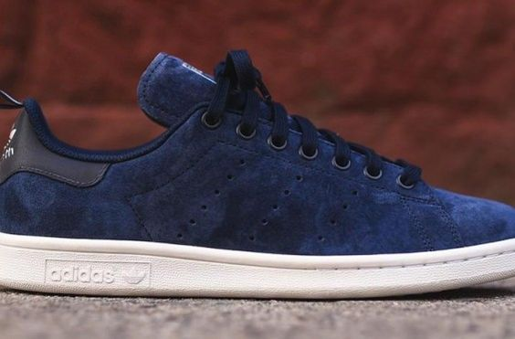 adidas stan smith navy suede: