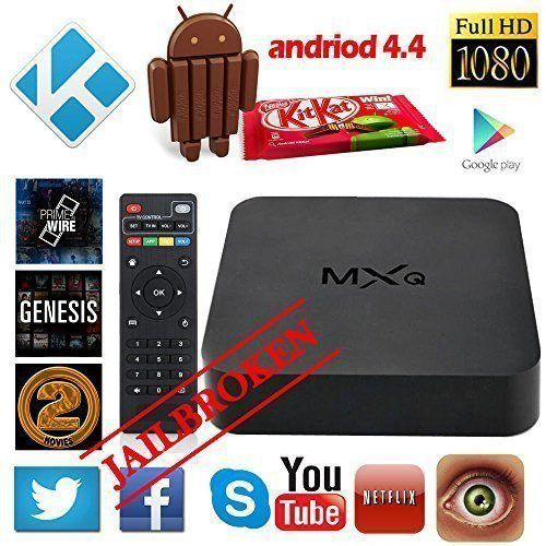 JUNING(TM) Android 4.4 TV Box Kodi XBMC Fully Loaded 1080P Amlogic S805 Quad Core Smart Media Player RAM 1GB ROM 8GB Root 4k H.265 on sale at briginfo.tk http://bit.ly/21BoPzi The box supports Root,True 1080p Quad Core XBMC/Kodi HD Playback! High performance Quad Core S805 CPU paired with the powerful Mali450 Octo Core 3D GPU Graphics Processor = Insane Media Performance. Watch your favorite movies and live streams with vivid and smooth playback. Hook up a USB mouse (not in