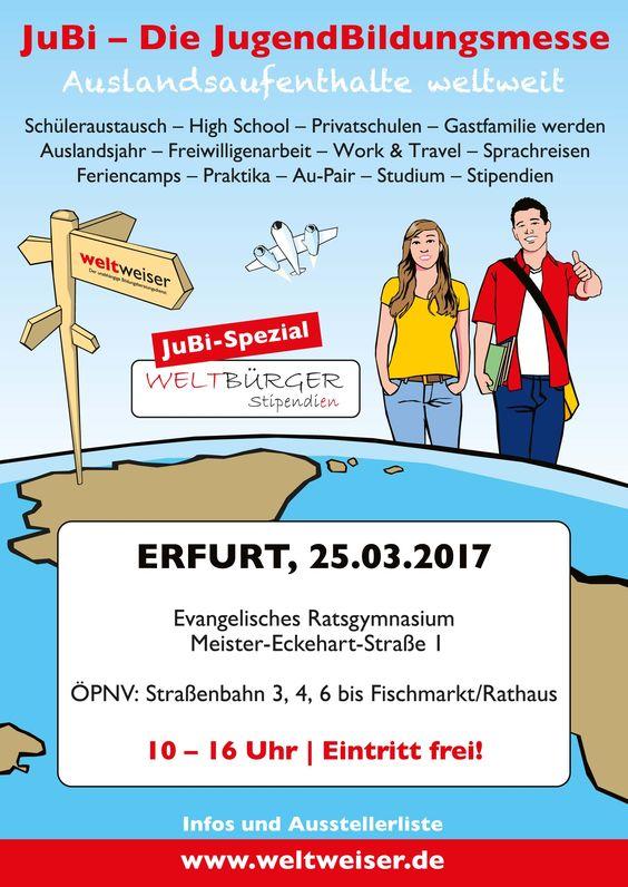 JuBi Erfurt 25.03.2017 #Auslandsjahr #Jugendliche #Schüler #Reisen #Erfurt #Thüringen