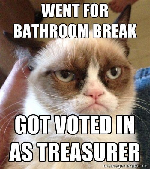 Nobody wants to be treasurer