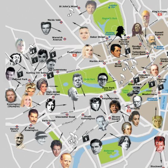 Maps to celebrity homes