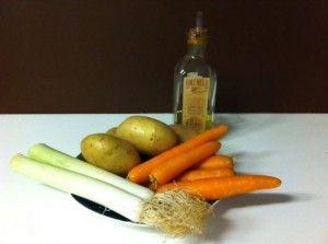 Puré de patata, puerro y zanahoria   De fogones y hombres