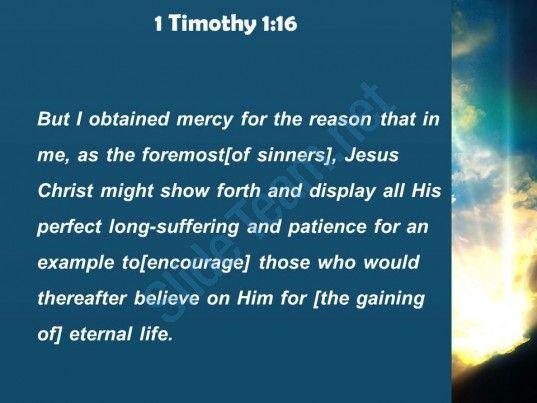1 timothy 1 16 who would believe in him powerpoint church sermon Slide04  http://www.slideteam.net/