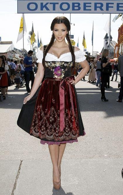 Kim Kardashian in a Lola Paltinger Dirndl at Oktoberfest 2010