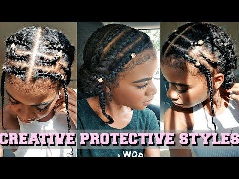 Protective Styles These 3 Easy Natural Hairstyles Are Great For Back To School They Are Su Protective Hairstyles Braids Natural Hair Braids Curly Hair Styles