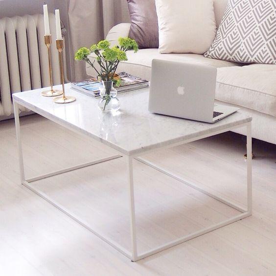 Soffbord 100 x 60 x45 5595 sek for Table basse marbre blanc