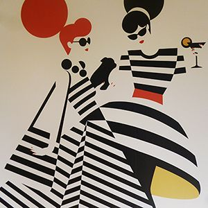 mural by Malika Favre, commissioned by Le Bon Marché Rive Gauche for their Palm Springs season, 23rd February - 30th March 2013