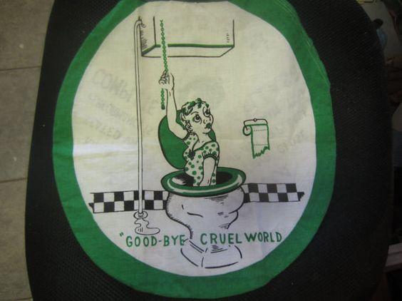 Goodbye Cruel World: Toilets, Toilet Seats And Vintage On Pinterest