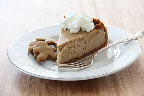 Gingerbread cheesecake - I have seen gingerbread graham crackers at the grocery store!