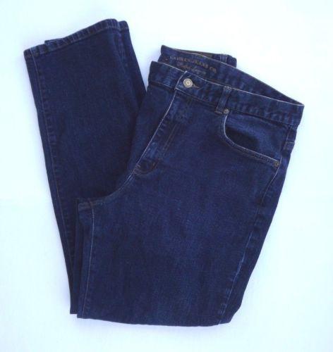 Lauren Jeans Co Classic Straight Leg Dark Wash 14