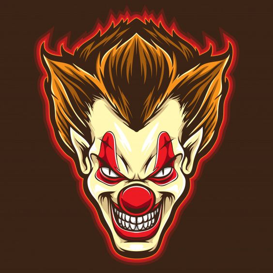 Psyco clown vector Premium Vector | Premium Vector #Freepik #vector #logo #character #cartoon #sticker