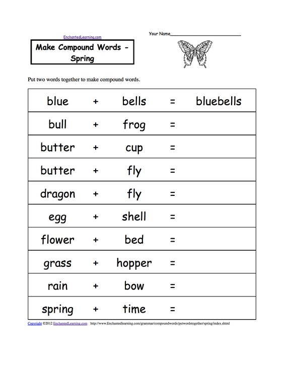 Photos Spelling Out Words | make compound words food printable ...