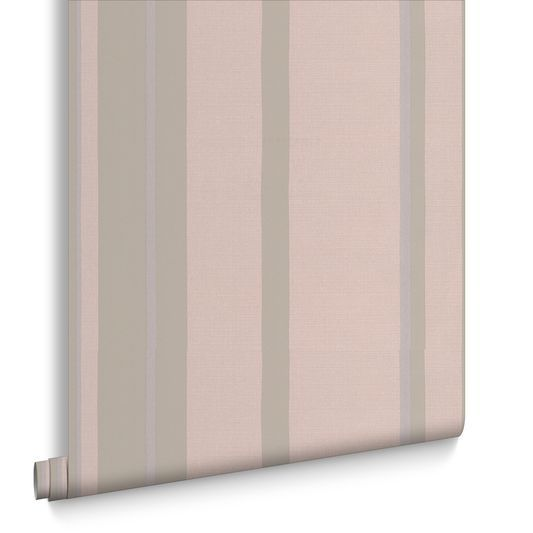 Hoppen Stripe Taupe and Moss Wallpaper: