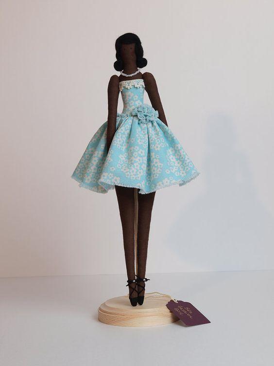 50s Fashion Girl - Tilda-style doll: