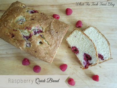 Raspberry Quick Bread - What the Fork Food Blog