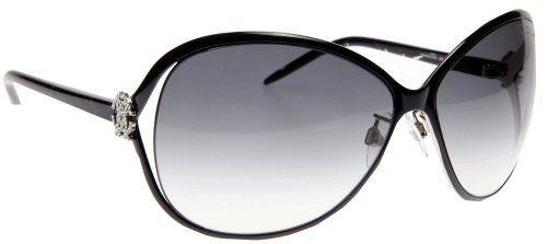 Roberto Cavalli Women's RC500 Round Sunglasses,Black with Palladium Frame/Gradient Smoke Lens,one size by Roberto Cavalli