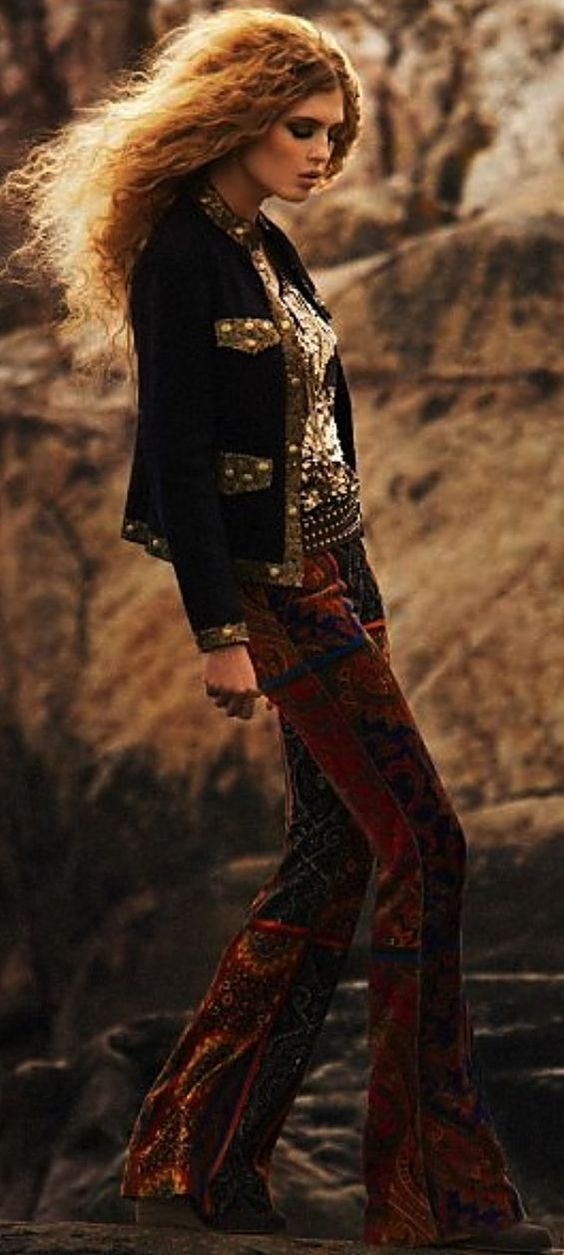 Gypsy style // sequins and velvet