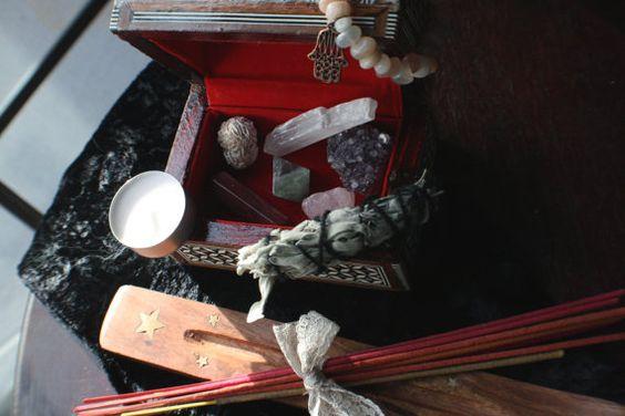Desert Rose Altar Box/Altar kit by etherealmarket on Etsy