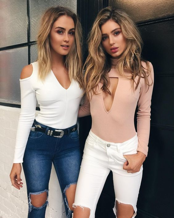All new bodysuits have landed  Plus the 'Mika' jeans are now available in white and blue denim