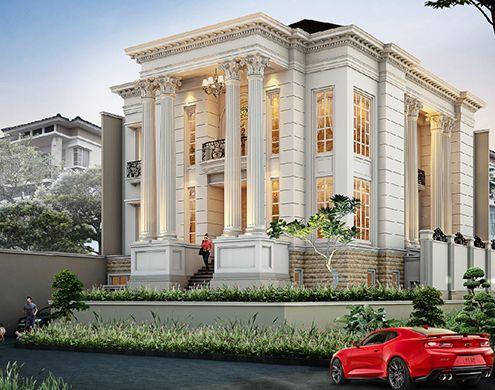 Rumah Klasik Showcase Model Luxury Homes Rumah Klasik Arsitektur Modern Arsitektur Desain Arsitektur
