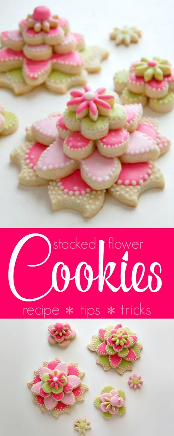 Flower cookies, Cookies and Flower on Pinterest