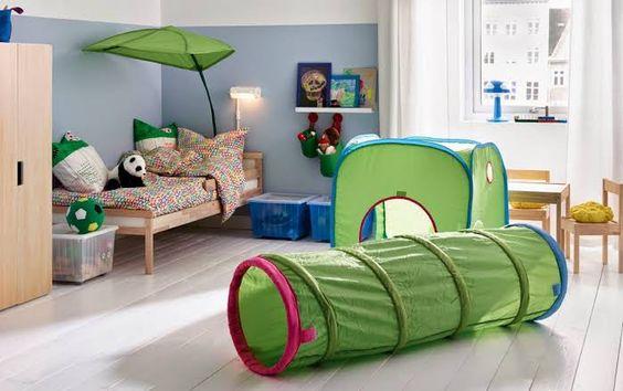 子供の秘密基地にはコレ!IKEAのBUSAテント&プレイトンネル