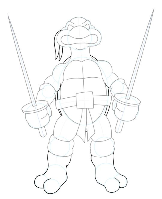 how to draw a ninja turtle ananth