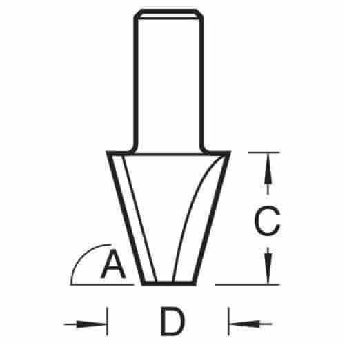 TREND 10//21X1//2TC MITRE CORNER A=45