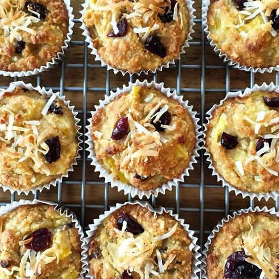 Tropical Mango Muffins (Gluten-Free, Sugar-Free)