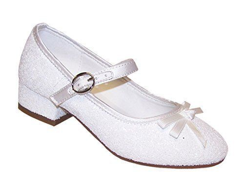 Sparkle Club Girls' White Glitter