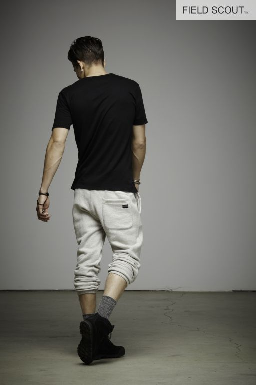 SS111-S2-BLACK-SHADOW STRIPE TEE // FP102-SNOW-FIELD PANT