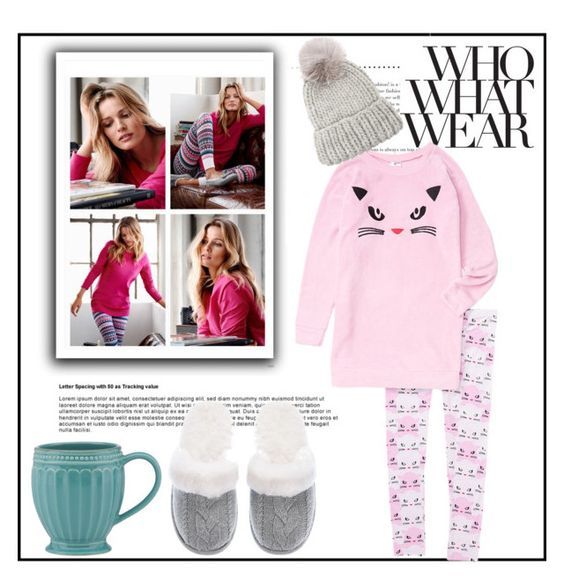 """""""What to Wear Wear: Netflix Binge"""" by louise-frierson ❤ liked on Polyvore featuring H&M, Lenox, Victoria's Secret and Eugenia Kim"""