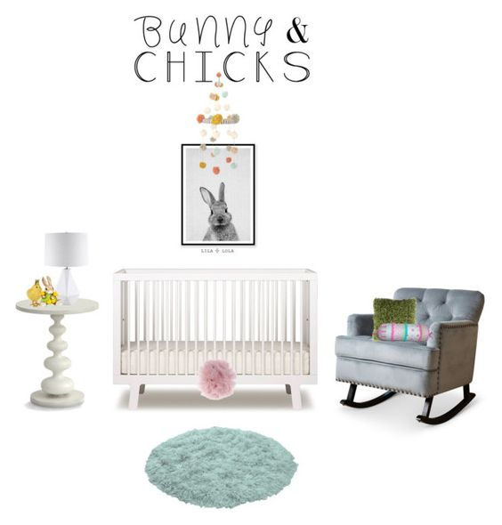 """Bunnies & Chicks"" by ice058 ❤ liked on Polyvore featuring interior, interiors, interior design, home, home decor, interior decorating, Oeuf, Blabla, Fleur du Mal and Redford House"