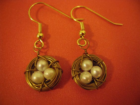 HANDMADE: Bronze Bird's Nest Earrings ($12)