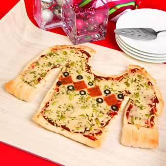 Ugly Sweater Pizza   -  orientaltrading.com http://www.freefunchristmas.com/