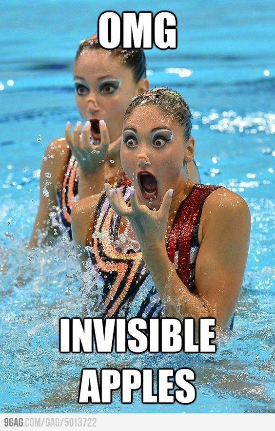 Invisible Apples!
