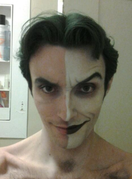 because this is the face behind the coolest Joker cosplay ever. clicks it, precious!:
