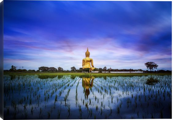 A biggest Buddha in Thailand by Anek S