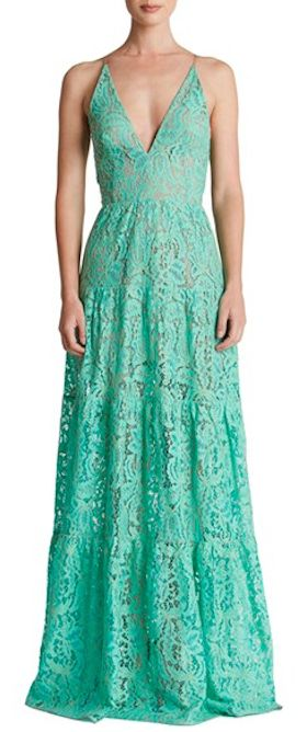 mint lace fit and flare dress