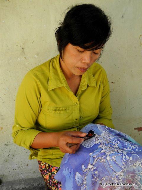 Fabrication de batik #Yogyakarta #Java