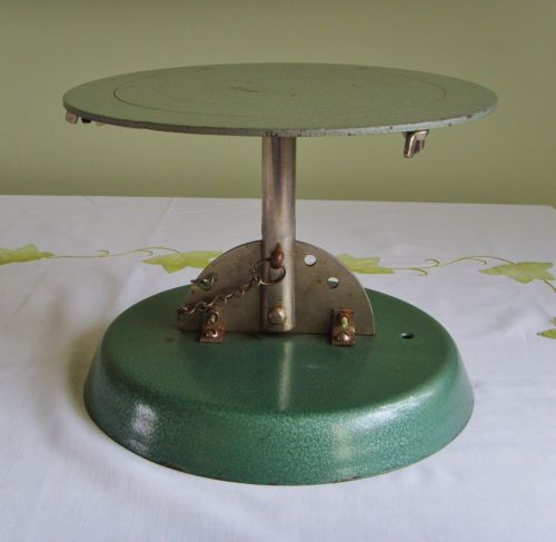 Vintage cake decorating turntable - industrial style heavy ...