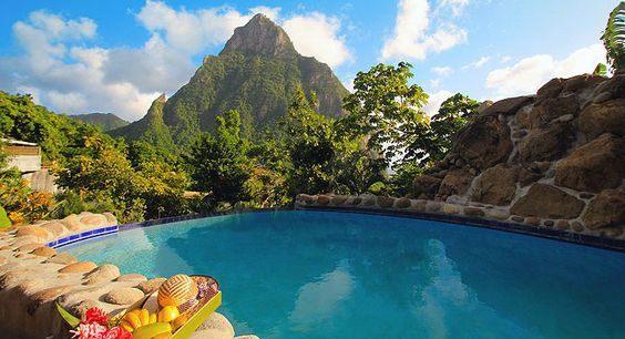 Piton Views From The Orchid Villa Pool