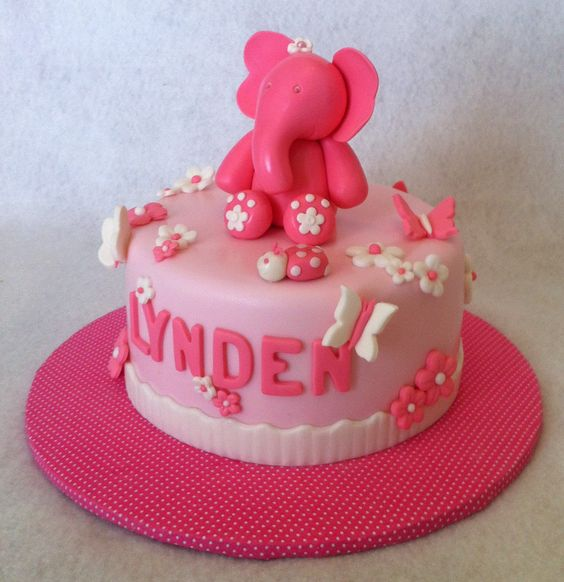 February 2013. Birthday cake for a 1 year old. Strawberry cake with ...