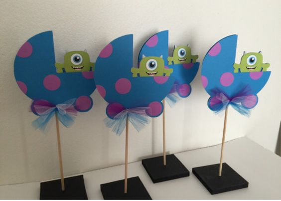 Baby monsters inc baby shower centerpieces