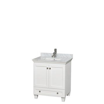 Acclaim 30 in. Single Bathroom Vanity by Wyndham Collection - White | Free Shipping