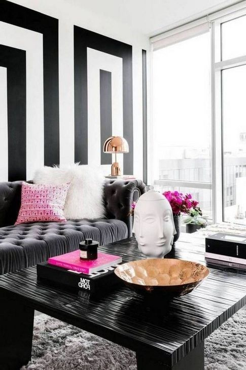 99 Relaxing Black And White Decor Ideas For Your Room Black And White Living Room White Living Room Decor Gold Living Room Decor
