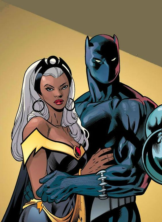 Storm and Black Panther by Scott Eaton