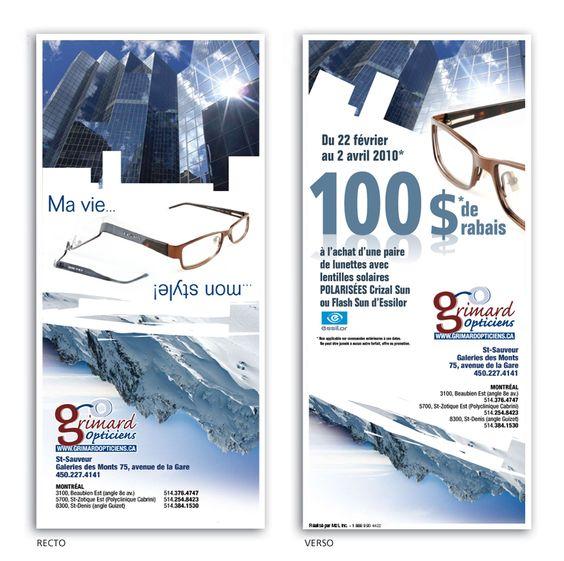 Grimard Opticien Publipostage pour M2L Marketing Conception, production